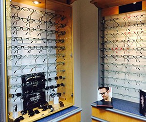 A selection of frames and glasses in London